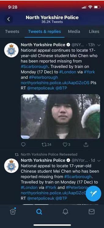 △图片来自北约克郡警方推特