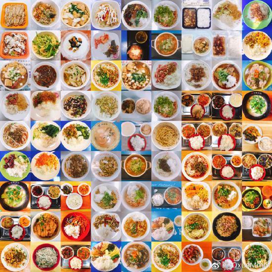 一位同学连拍四年大学饭菜,你最难忘的食堂饭菜是?