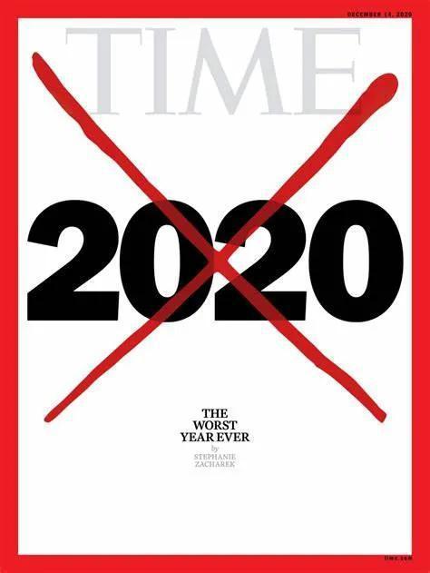 """美国《时代》周刊日前公布的封面,以""""最糟糕的一年""""为主题。图片来自网络"""