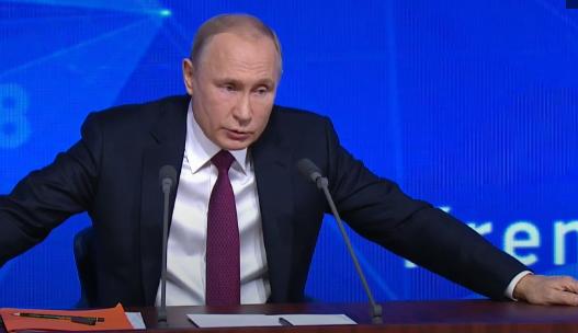 普京举走年度记者会(俄罗斯卫星网)
