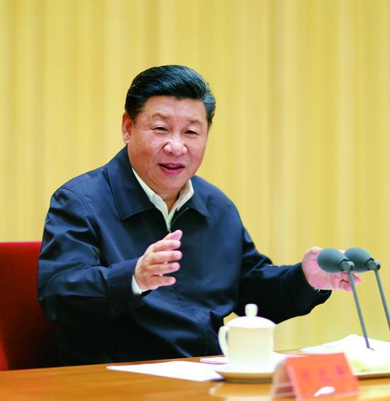 2018年7月3日至4日,全国组织工作会议在北京召开。中共中央总书记、国家主席、中央军委主席习近平出席会议并发表重要讲话。 新华社记者 鞠鹏/摄