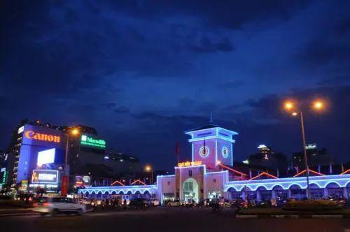 图为胡志明市夜景。图源:新华社