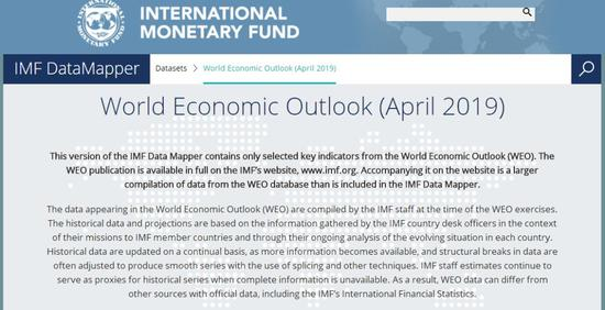 IMF2019世界经济展望报告