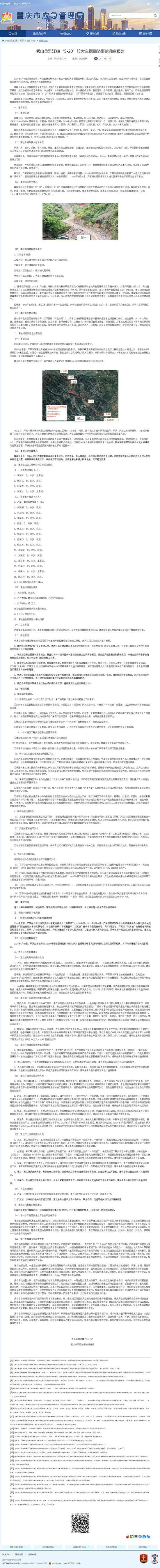 重庆市应急管理局网站 截图