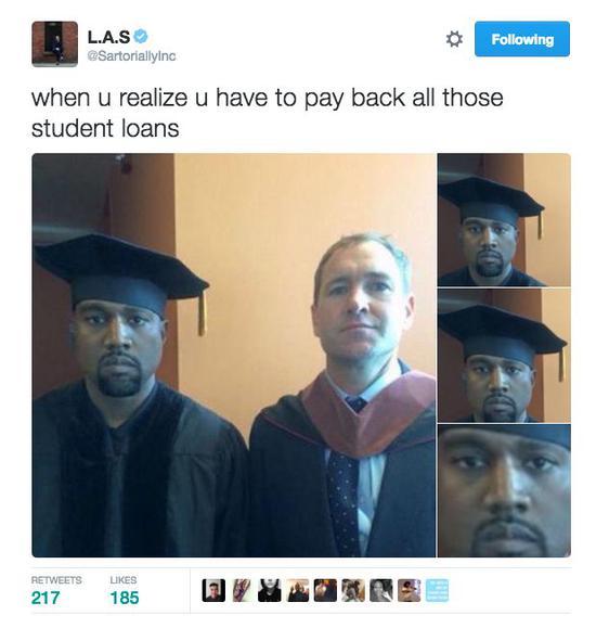 ▲当你发现你不得不偿还所有的学生贷款时……
