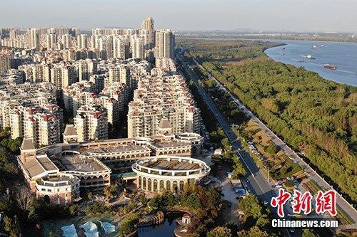 资料图:南京浦口区一处楼盘。中新社记者 泱波 摄