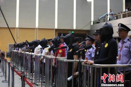 资料图:山西公开审理重大涉黑案件。忻州市中级人民法院 供图