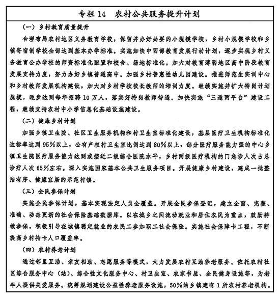 专栏14 农村公共服务提升计划 新华社发