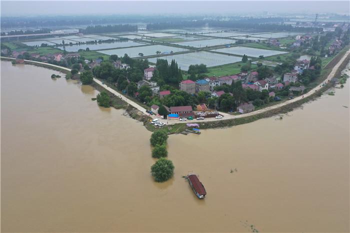 7月9日拍摄的水阳江南京高淳段(无人机照片)。新华社记者 季春鹏 摄