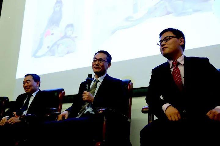 2018年1月24日,中科院神经科学研究所所长蒲慕明院士、孙强研究员和刘真博士(从左到右)在北京举行的体细胞克隆猴发布会上。(新华社记者 张玉薇 摄)
