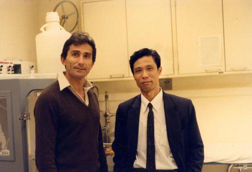 钟南山与导师弗兰里教授