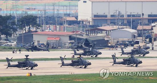 位于韩国平泽市的驻韩美军基地(韩联社)
