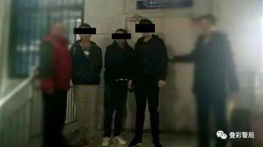 ▲民警成功抓获嫌疑人。