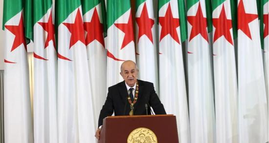 阿尔及利亚总统特本。(图源:路透社)