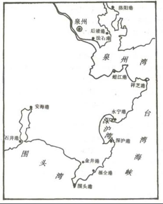 (图为古泉州港示意,晋江由海外贸易而兴)