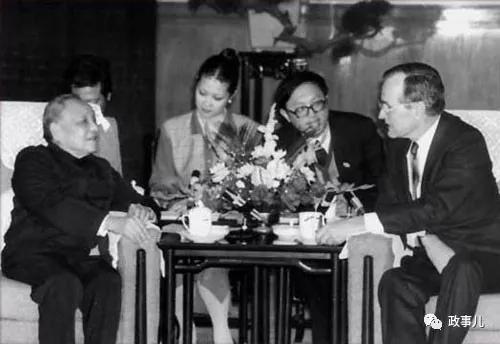 1989年邓幼平会见布什