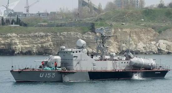 ▲乌克兰海军装备的小型导弹舰