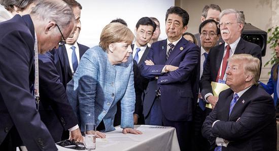 """""""七国峰会""""(G7)资料图"""