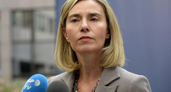 欧盟外交和安全政策高级代表莫盖里尼(图:法新社)