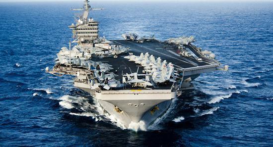 美国在地中海同时部署两个航母战斗群。(图源:俄罗斯卫星通讯社)
