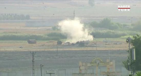 土军空袭叙利亚北部视频截图