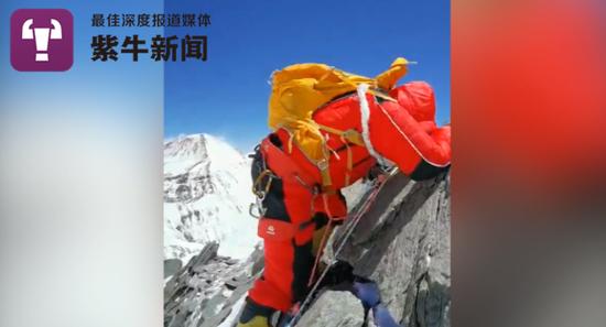 攀登过程很艰难