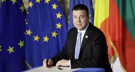 爱沙尼亚总理拉塔斯(美联社)