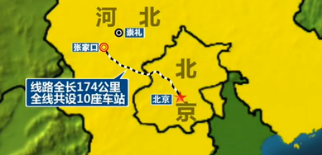 △北京-張家口 線路示意圖
