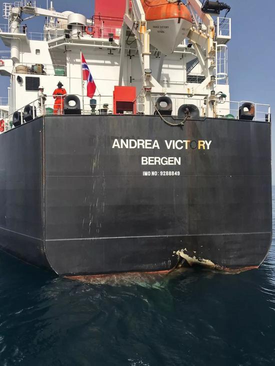 遭袭的商船
