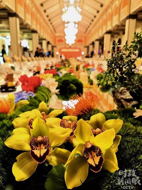 △欢迎宴会在上海和平饭店举行。(央视记者黄京辉拍摄)