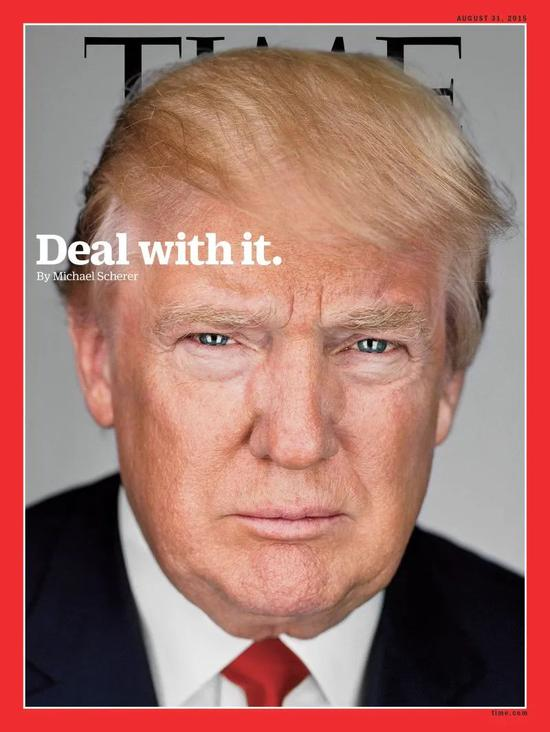 The presidential candidate Trump made his first appearance on the cover of Time. Since then, the use of the covers in the actual Trump photo has been used, and they have been replaced by arti Stingly created images. Image source: Time.com