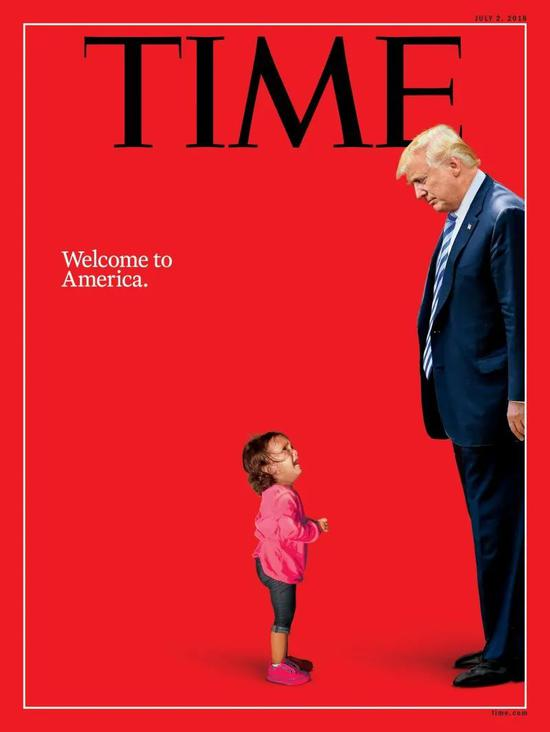 """The controversial cover """"Welcome to the United States"""". Image source: Time.com"""