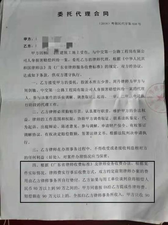 杨某与律师签订的代理合同