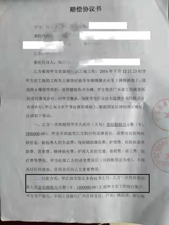 杨某与用人单位签订的赔偿协议书