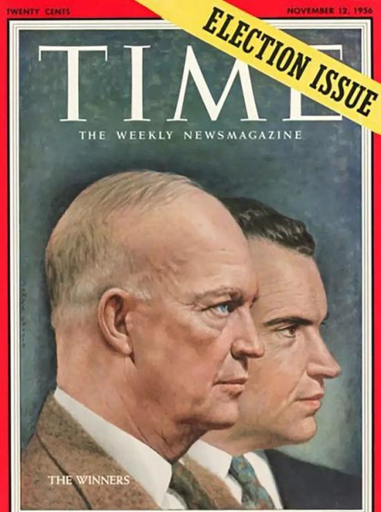 1956年《时代周刊》封面上的艾森豪威尔和尼克松。