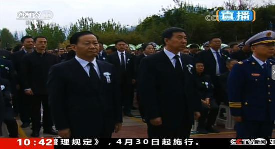 王勇代表党中央国务院参加西昌市举行的悼念活动