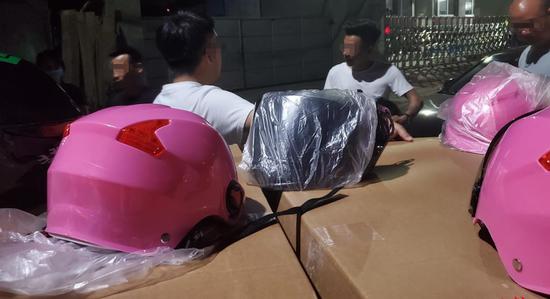 ▲三无产品头盔