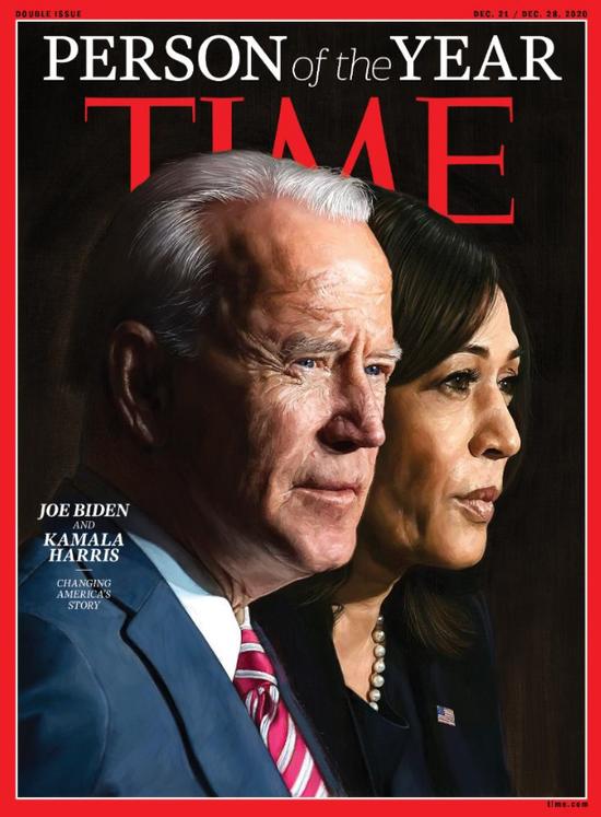 2020年《时代周刊》封面上的拜登和哈里斯。
