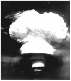 △氢弹爆炸腾起的蘑菇云