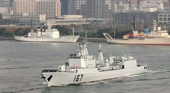 △2009年中国海军成立60周年,吾国曾举办首次国际阅舰式