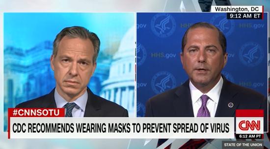 """美国卫生部长阿扎尔批准CNN采访,警告美国限制疫情的""""窗口正在关闭"""""""