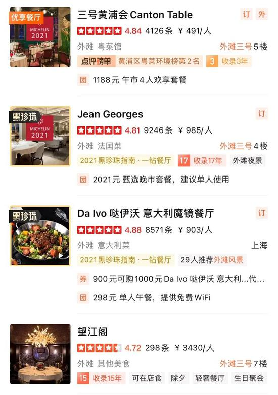 """""""大多点评""""上外滩三号餐厅的价格周围相等之大"""