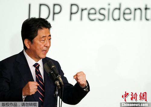原料图片:日本首相安倍晋三。