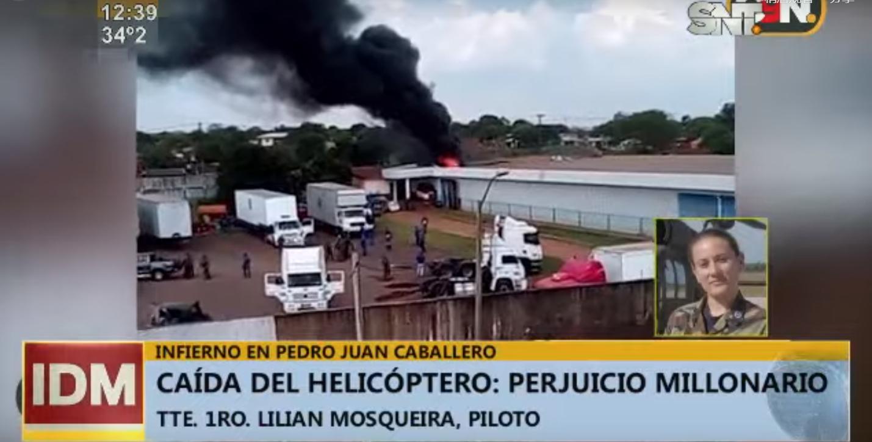 巴拉圭一架直升机坠毁