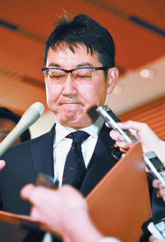 资料图片:日本前法务大臣河井克行。(来源:视觉中国)