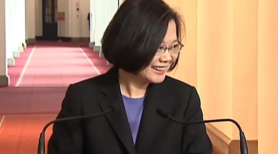 蔡英文讲话视频截图(来源:东森新闻网)