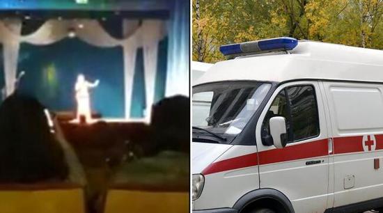 俄罗斯女歌手演唱会台上飙高音当场倒地猝死