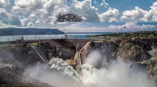▲给中国超级工程加上科幻元素,秒变大片海报