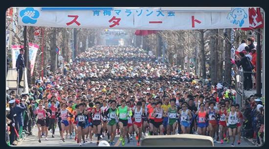 图为东京青梅马拉松现场,图源:网络