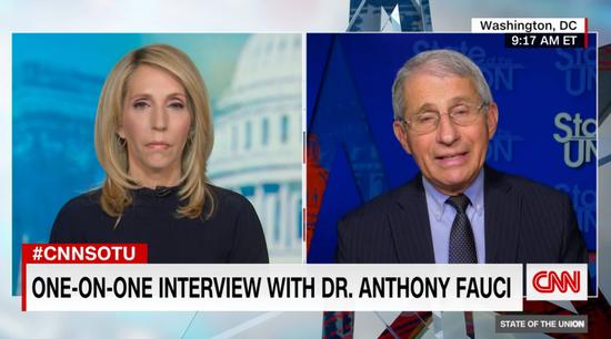 福奇接受CNN采访。/CNN视频截图
